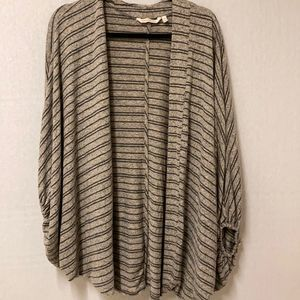 Soft Surroundings Shrug Striped Sweater